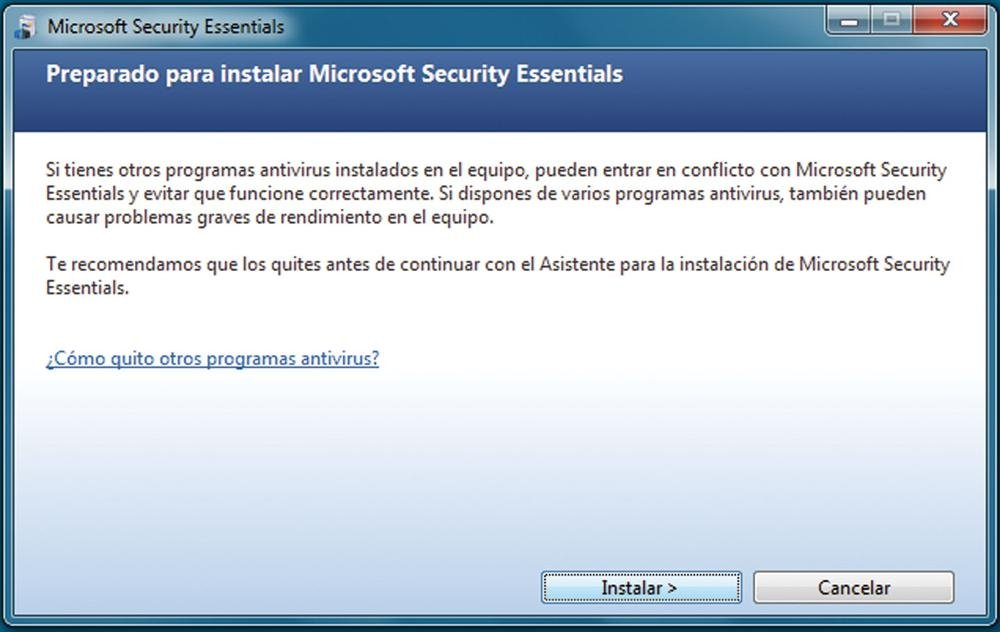 Microsoft Security Essentials  práctico 1