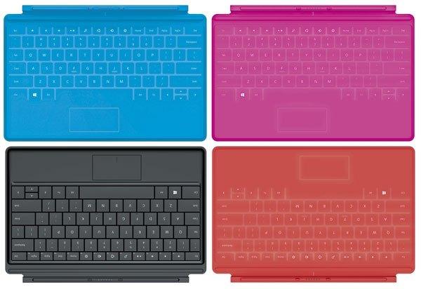 Microsoft Surface RT teclado