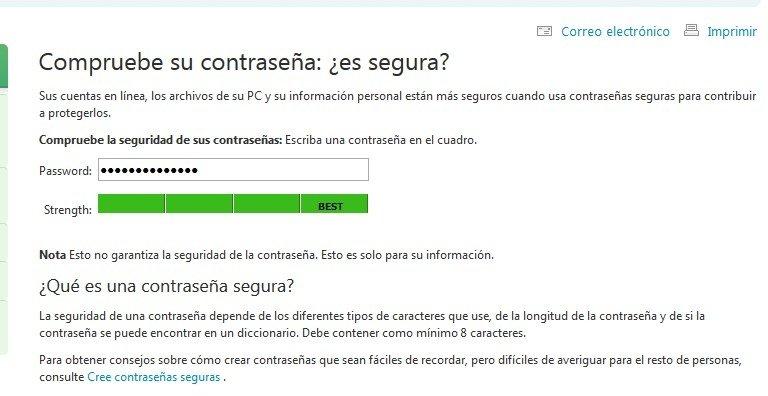 Microsoft te dice si tu contraseña es segura o no