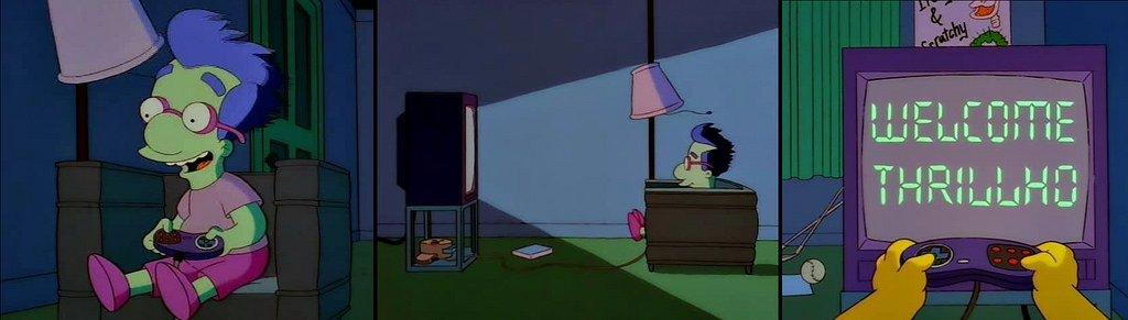 Milhouse jugando a Bonestorm