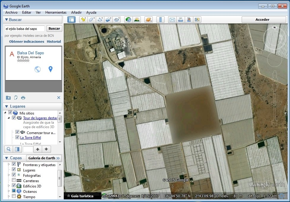 Misteriosa parcela oculta cerca de El Ejido vista en Google Earth
