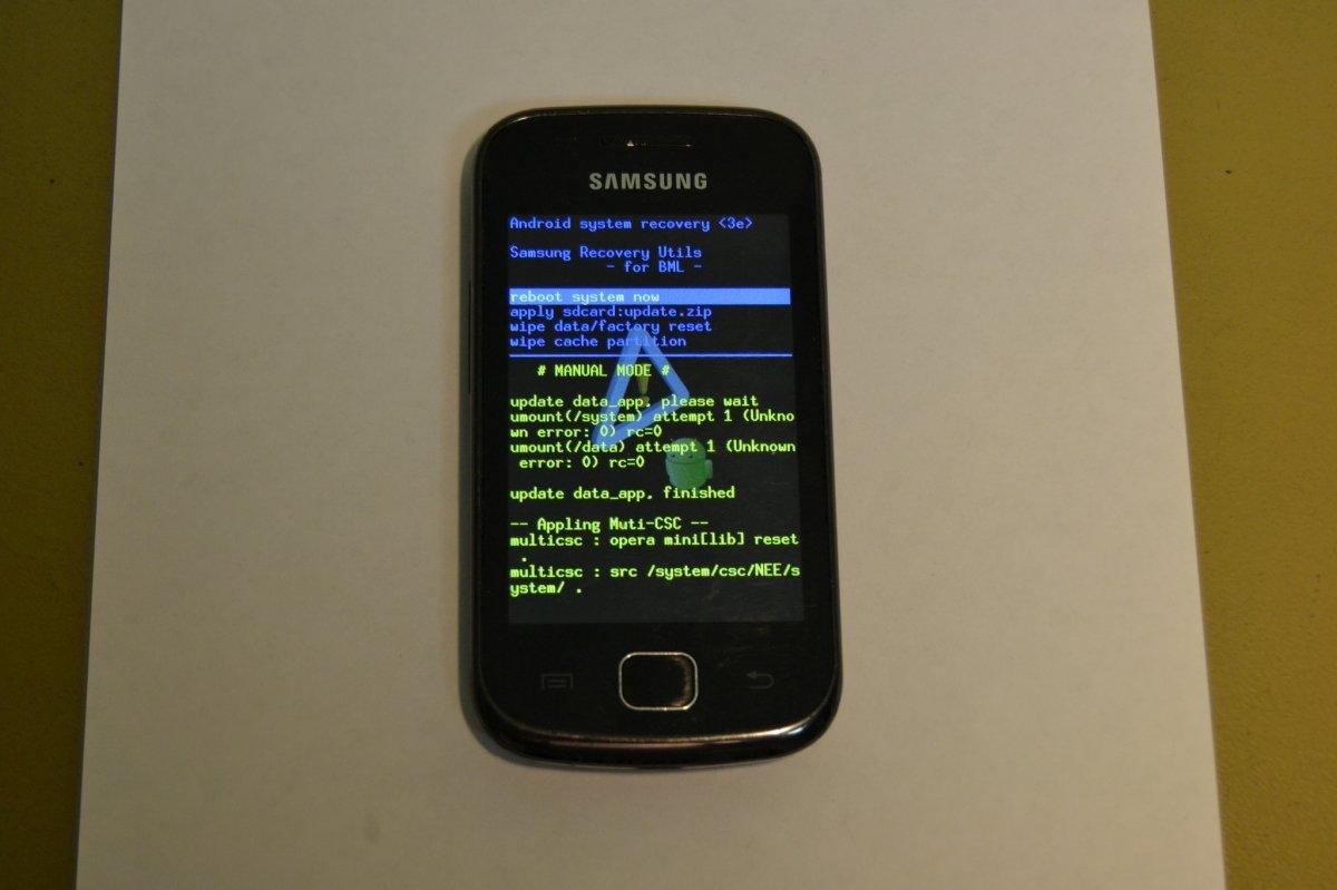 Modo recovery en un teléfono Android