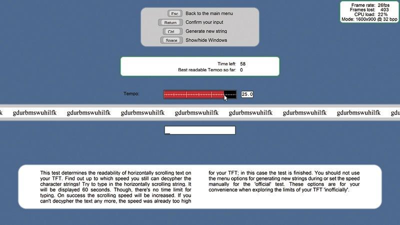 Monitores táctiles Pruebas detalle
