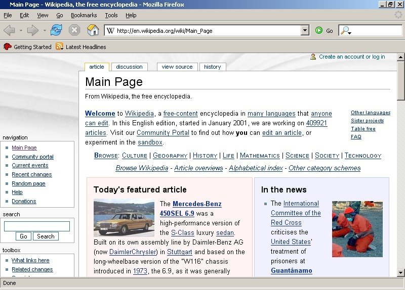 Mozilla Firefox 1.0