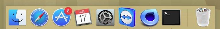 Muchos de los iconos del Dock resultan inútiles