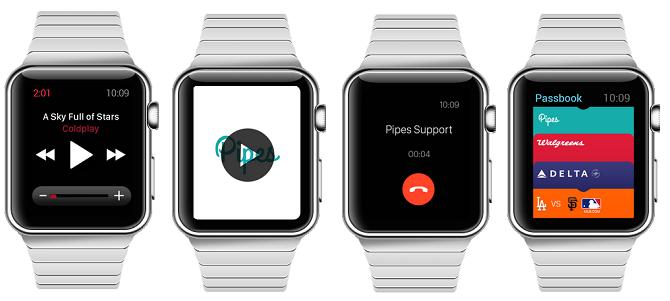 Música, vídeo, llamadas y Passbook en Apple Watch