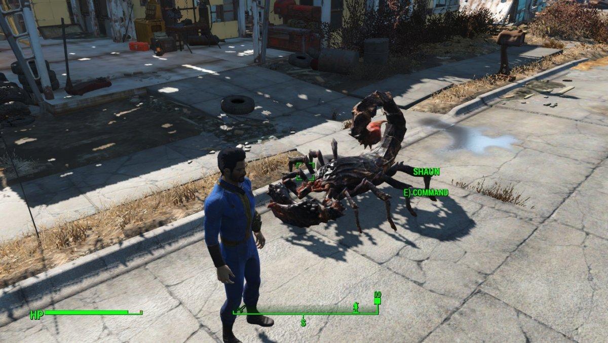 Mutascorpius como compañero en Fallout 4 (mod)