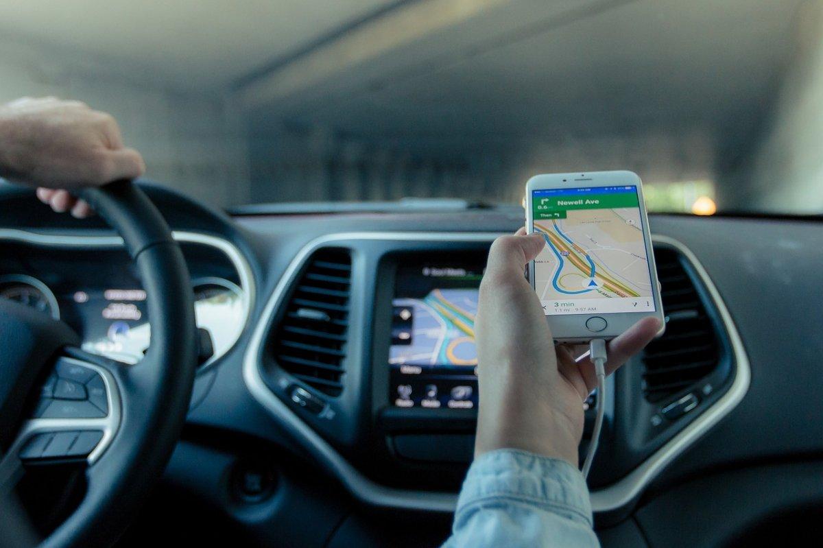 Navegación GPS en un iPhone