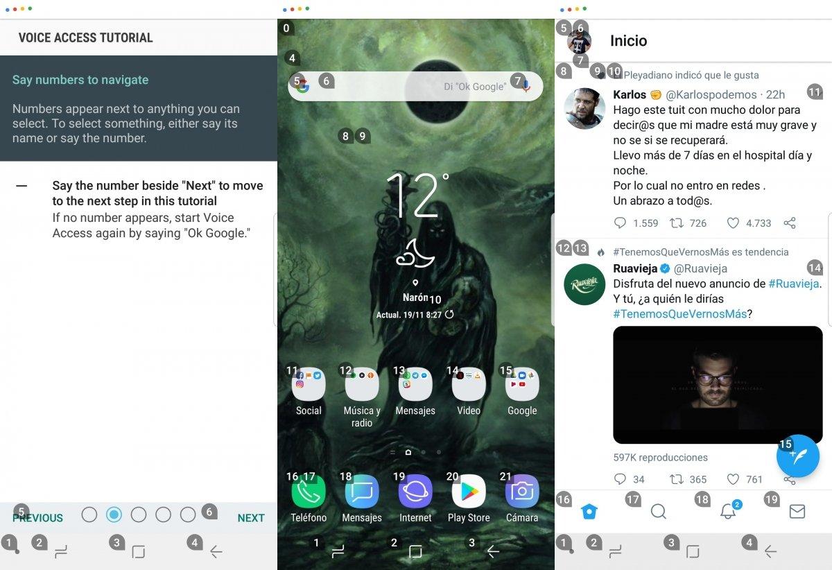 Navegando por Android con Voice Access