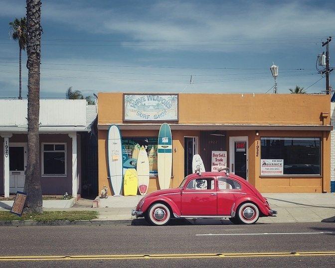 Negocio tienda de surf