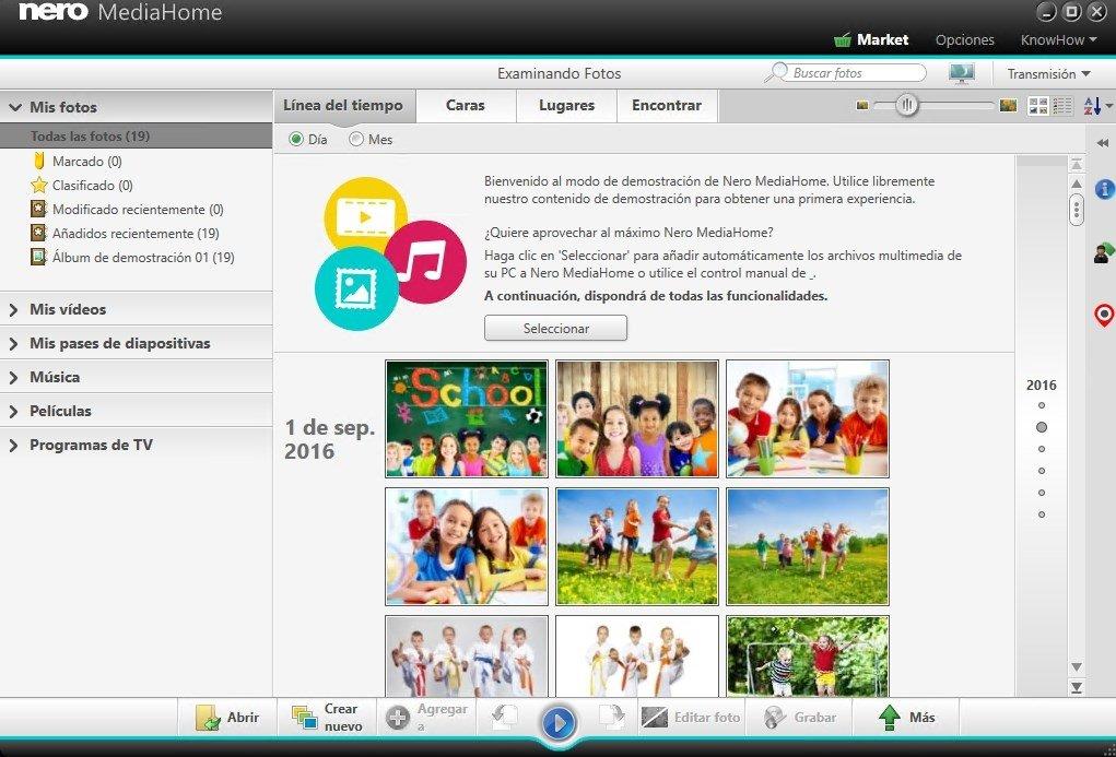 Nero Media Home es una eficaz herramienta de organización