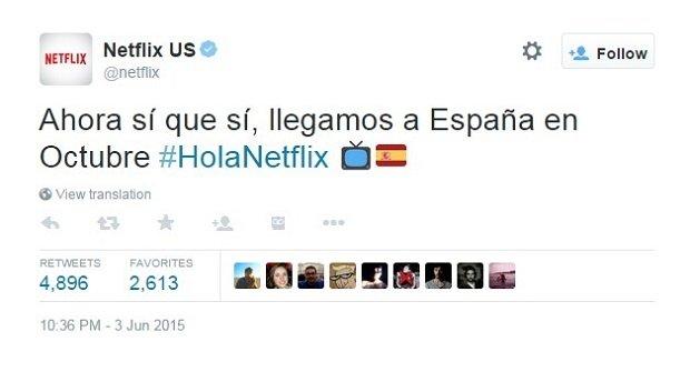 Netflix anuncia su llegada a España