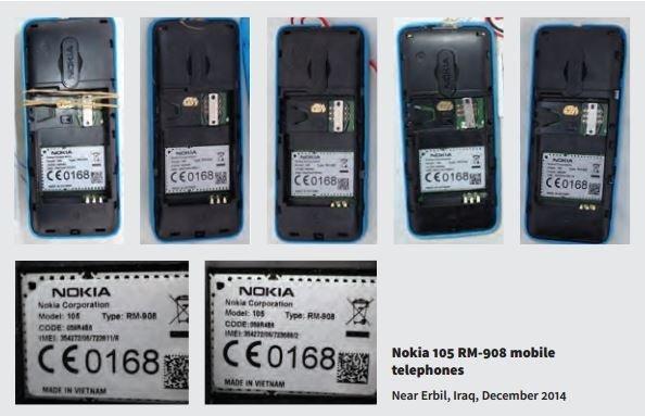 Nokia 105 sin detonar intervenidos