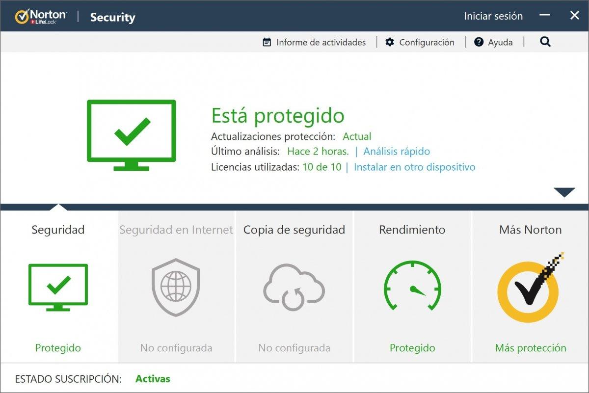 Norton Antivirus activo en un PC