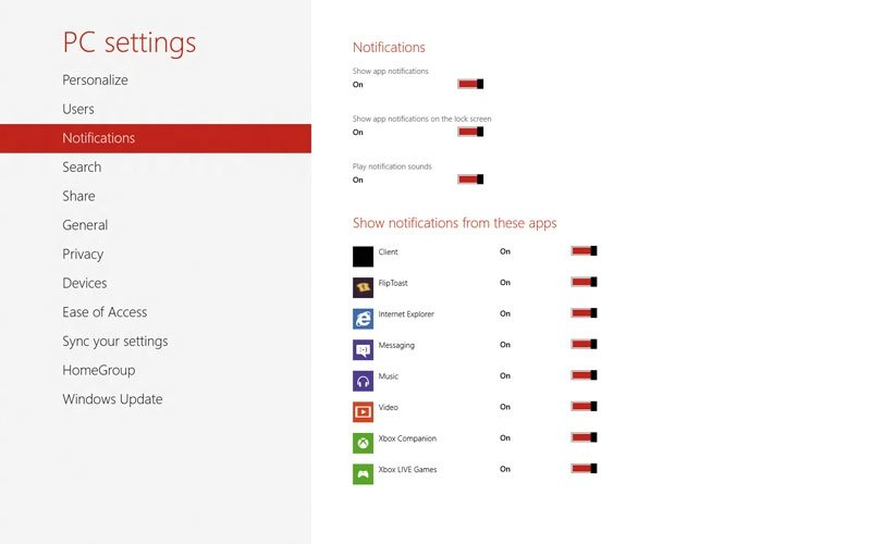 Notificaciones Windows 8
