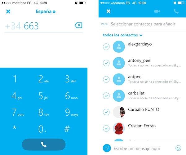 Novedades de Skype 5.9 en iOS