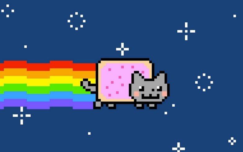 Nyan Cat, un meme en 8 bits que permite su animación en formato .GIF