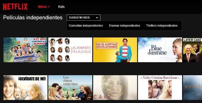 Obras de producción independientes: dramas, comedias y thrillers en Netflix