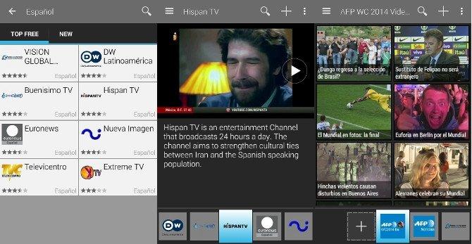 Ocho cadenas de televisión en español en SPB TV