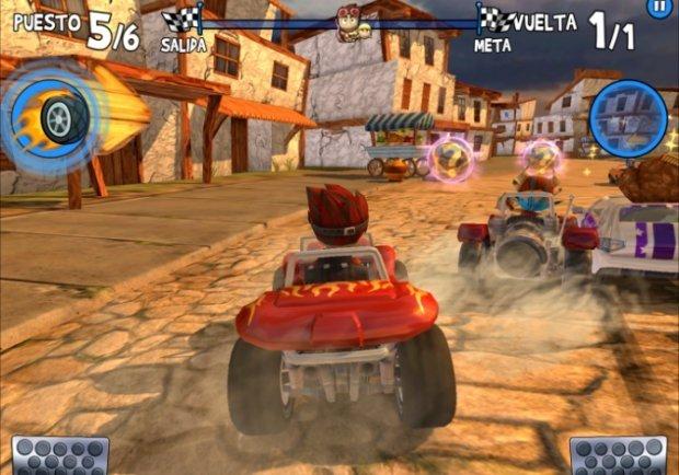 Olvídate de esperar un Mario Kart para iOS, Beach Buggy Racing es mejor
