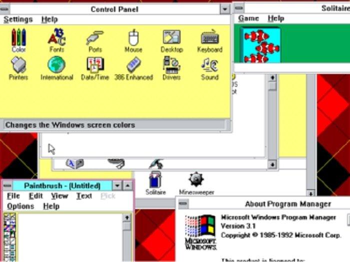 Opciones de personalización de Windows 3.1