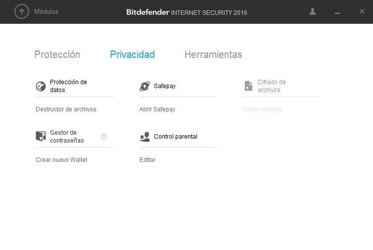 Opciones de privacidad en Bitdefender Internet Security 2016