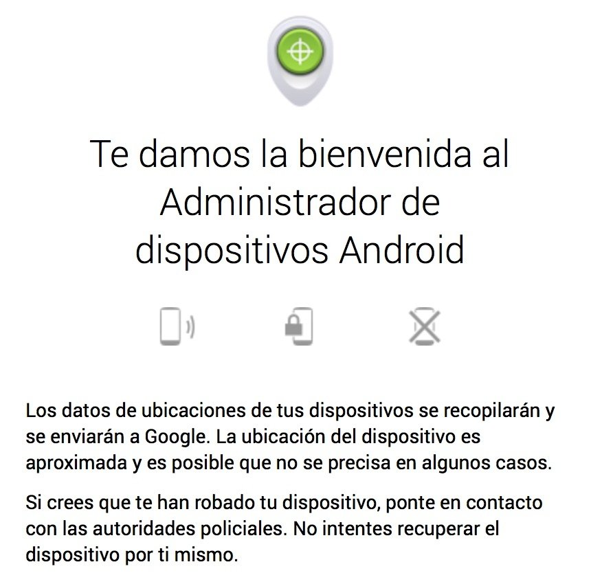 Opciones del kill switch de Android