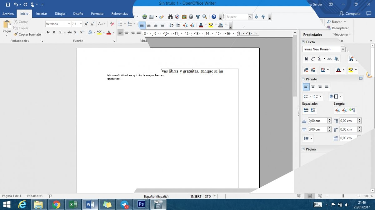 OpenOffice Writter versus Microsoft Word