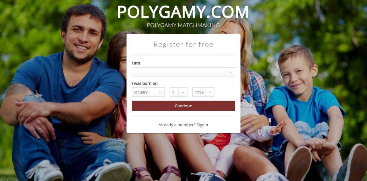 Página principal de Polygamy
