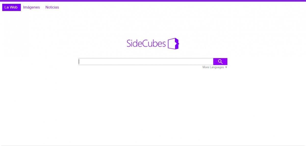 Página principal del motor de búsqueda SideCubes