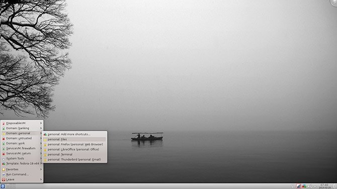 Qube OS, una distribución Xen