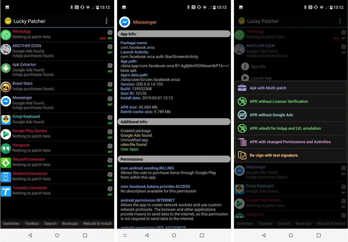 Pantallazos de Lucky Patcher para Android