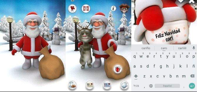 Papá Noel hablador, con la aparición estelar de Talking Tom Cat