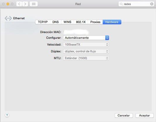 Para saber la MAC en OS X hay que seguir unos pocos pasos