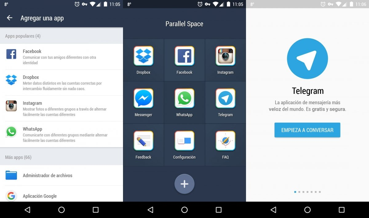 Parallel Space en Android