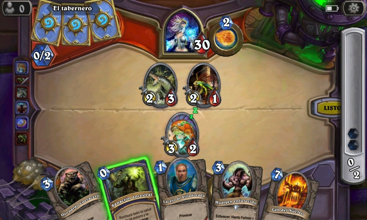 Partida de Hearthstone Heroes of Warcraft