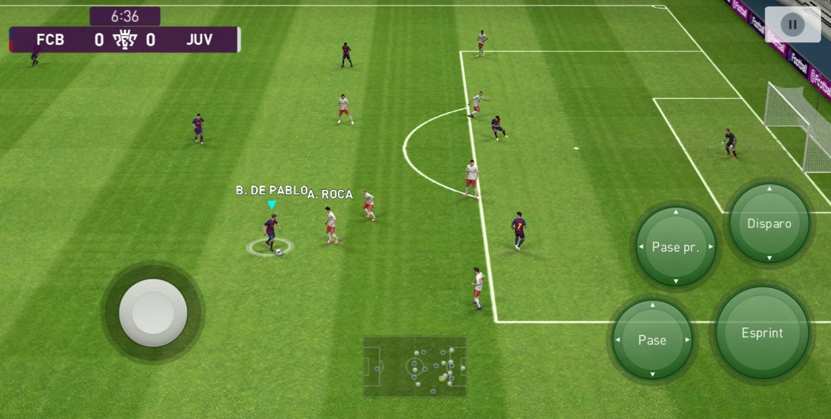 Partido entre Barcelona y Juventus en PES 2020