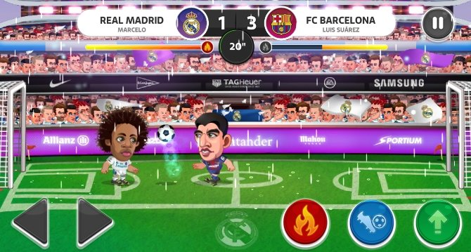 Partidos muy rápidos y divertidos en Head Soccer
