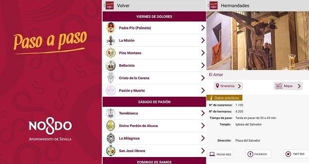 Paso a Paso, la app oficial del Ayuntamiento de Sevilla para seguir la Semana Santa