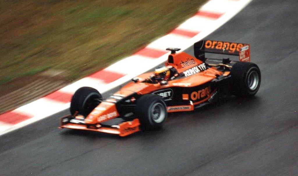 Pedro Martínez de la Rosa a los mandos de su Arrows F1