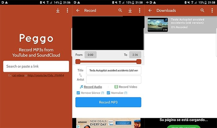 Peggo - MP3 de YouTube y SoundCloud para Android