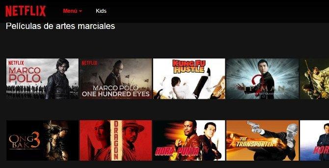 Películas de artes marciales en Netflix España