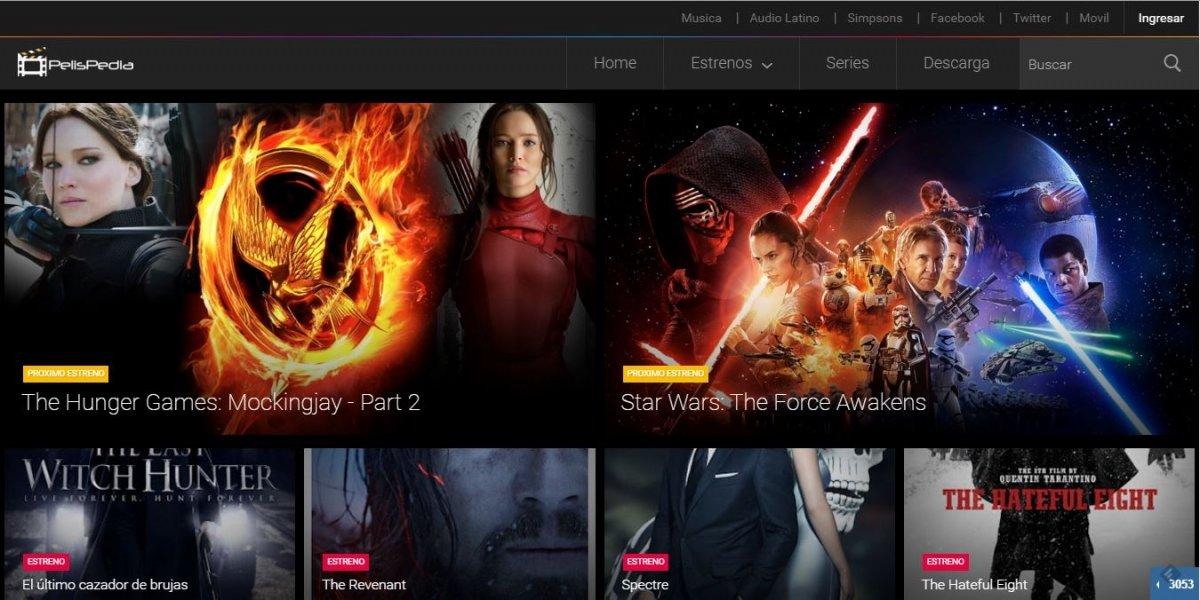 PelisPedia tiene una gran oferta de estrenos en HD y VOSE