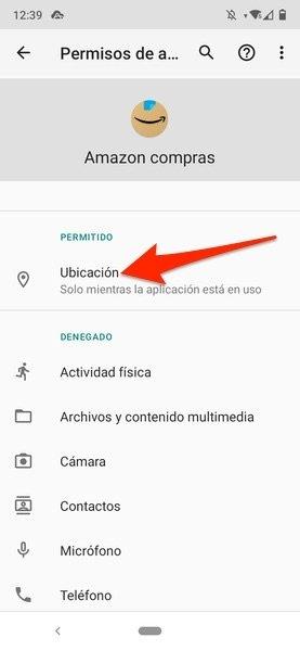 Permisos de una aplicación en los Ajustes de Android