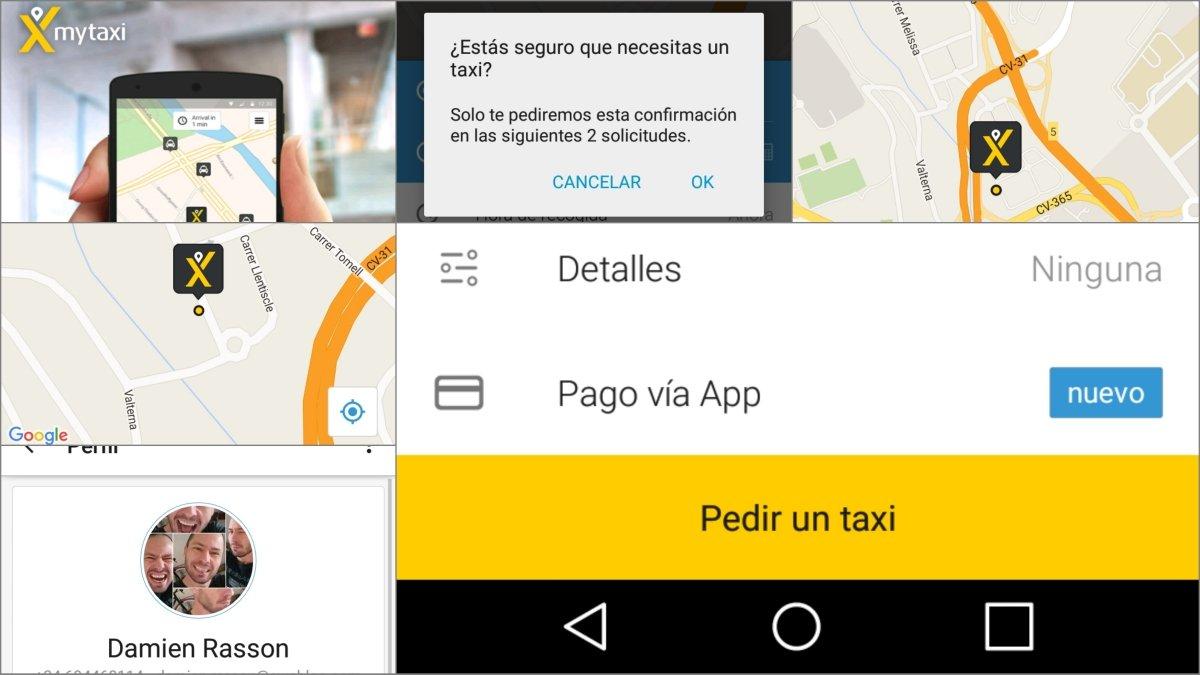 Pide un taxi desde el móvil