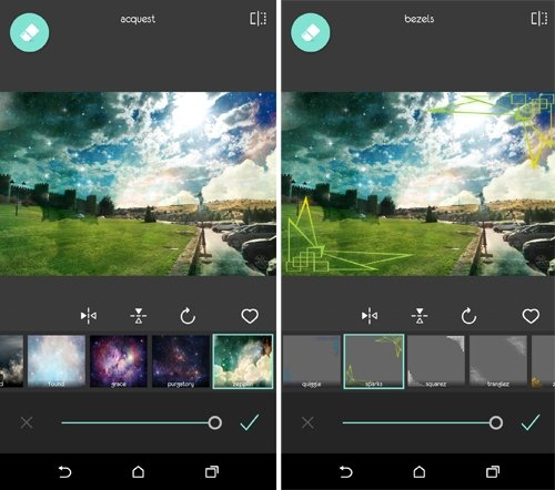 Pixlr añade galaxias y universos a tus fotos.