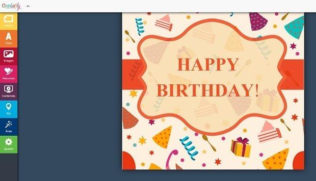 Plantilla de felicitación de cumpleaños disponible en Genial.ly