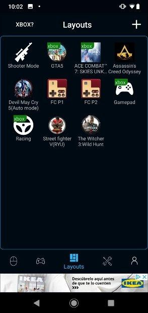 Plantillas de control para juegos de Mi Remote
