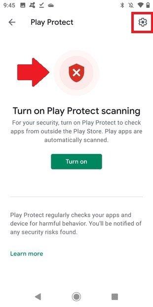 Play Protect está desactivado