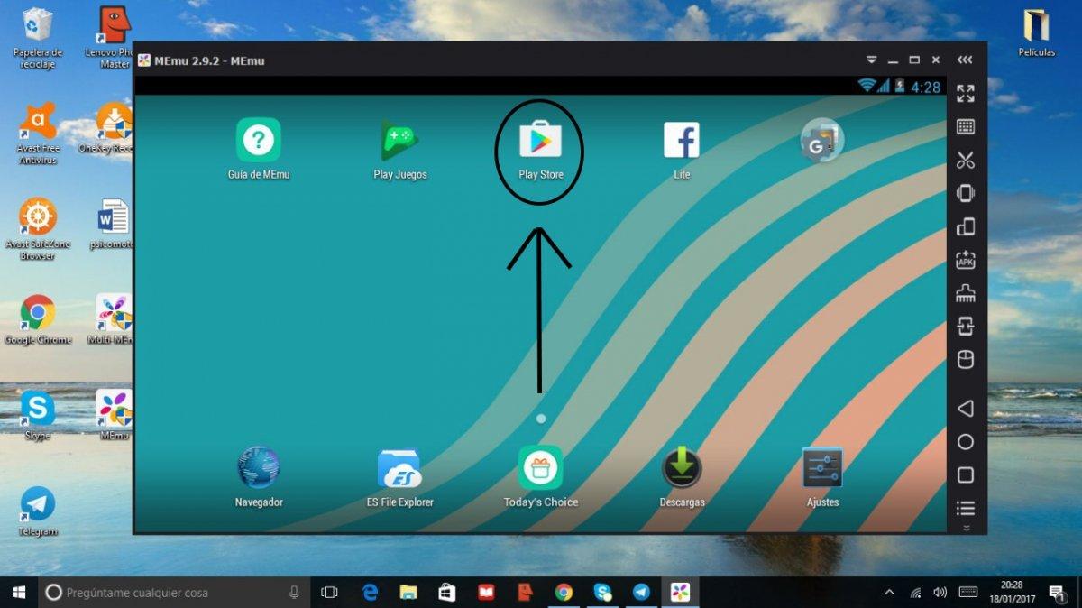 Play Store en MEmu para Windows